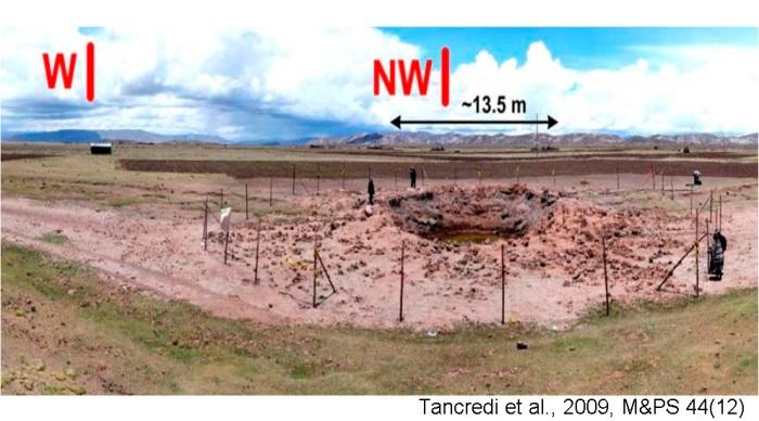 Kuva: Tancredi et al., Meteoritics & Planetary Science 44, Nr 12, 1967–1984 (2009)