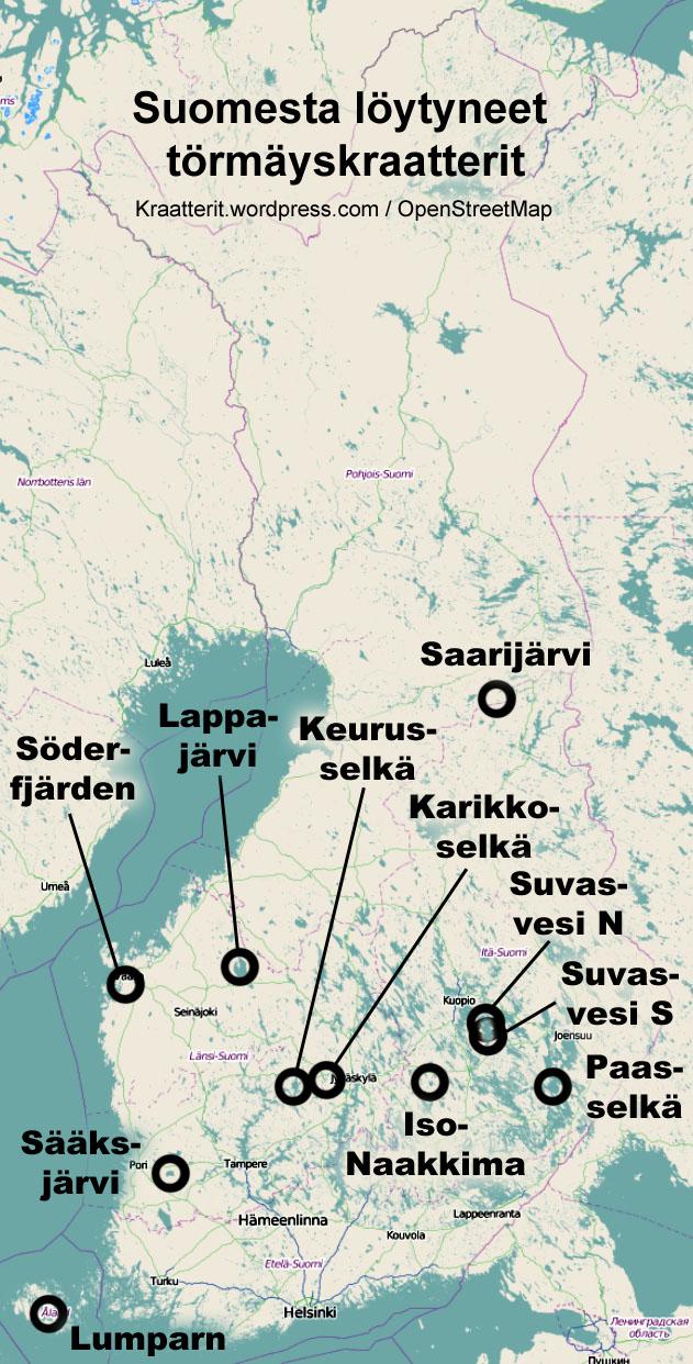 Perustietoa Montako Kraatteria Suomesta Loytyy Suomen Kraatterit